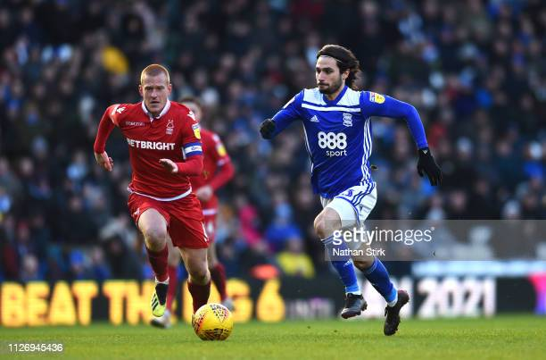 Jota of Birmingham City in action during the Sky Bet Championship between Birmingham City and Nottingham Forest at St Andrew's Trillion Trophy...