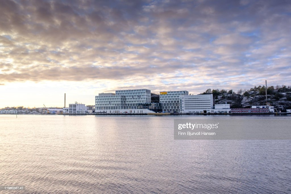 Jotun main office and laboratory in Sandefjord Norway : Stock Photo