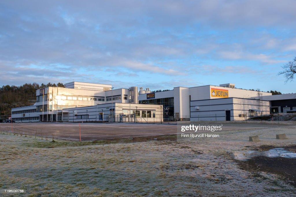 Jotun paint main factory in Sandefjord Norway : Stockfoto