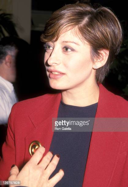 Jouarnalist Maria Bartiromo attends 10th Annual Media Conference The Business of Entertainment on April 4 2000 at the Grand Hyatt Hotel in New York...