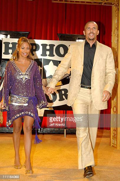 Joumana Kidd and Jason Kidd during 2005 VH1 Hip Hop Honors Gold Carpet at Hammerstein Ballroom in New York City New York United States