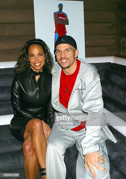 Joumana Kidd and Jason Kidd during Jordan Spring/Summer 2004 Collection Show and Party at Cielo in New York City New York United States