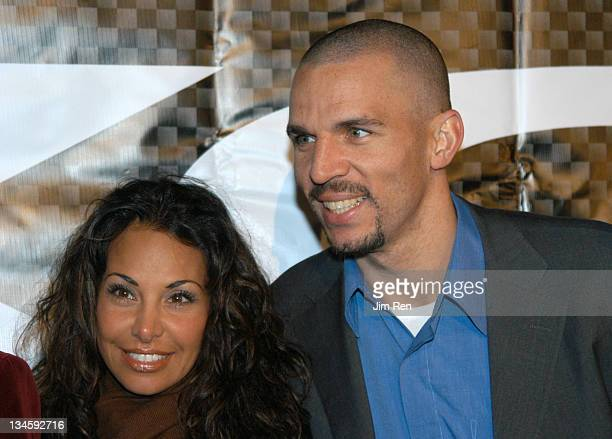 Joumana Kidd and Jason Kidd during Launch Party for XCD Men's Skin Care Line Hosted by Jason Kidd Arrivals at 40/40 Club in New York City New York...