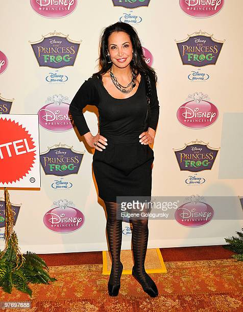 Joumana Kidd attends Princess Tiana's official induction into the Disney Princess Royal Court and The Princess and the Frog DVD launch at The New...