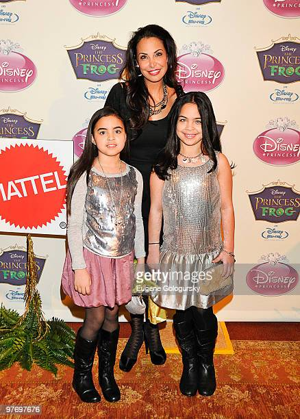 Joumana Kidd Miah Kidd and Jazy Kidd attend Princess Tiana's official induction into the Disney Princess Royal Court and The Princess and the Frog...