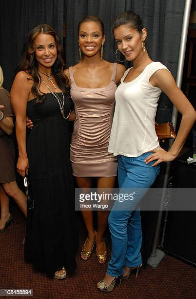 Joumana Kidd Miss USA Crystle Stewart and model Jaslene Gonzalez attend the after party for 'Stand Up For A Cure Jerry Seinfeld Live In Concert' at...