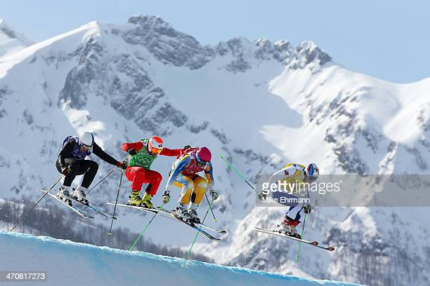 Jouni Pellinen of Finland Armin Niederer of Switzerland Victor Oehling Norberg of Sweden and Egor Korotkov of Russia compete during the Freestyle...