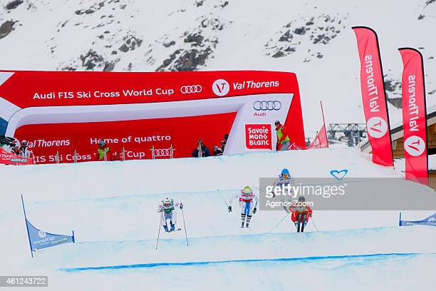 Jouni Pellinen of Finland takes 26th place Arnaud Bovolenta of France takes 5th place Thomas Zangerl of Austria takes 6th place during the FIS...