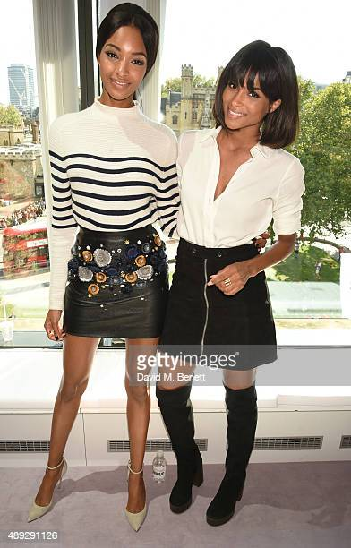 Jourdan Dunn and Ciara attend the Topshop Unique show during London Fashion Week SS16 at The Queen Elizabeth II Conference Centre on September 20,...