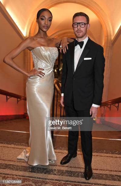 Jourdan Dunn and Dr Nicholas Cullinan attend The Portrait Gala 2019 hosted by Dr Nicholas Cullinan and Edward Enninful to raise funds for the...