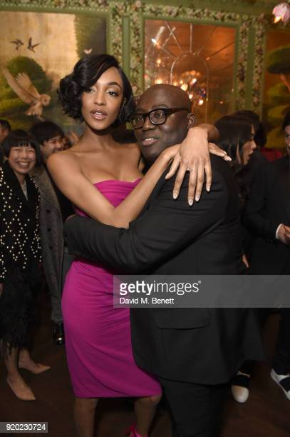 Jourdan Dunn and Edward Enninful attend as Tiffany Co partners with British Vogue Edward Enninful Steve McQueen Kate Moss and Naomi Campbell to...