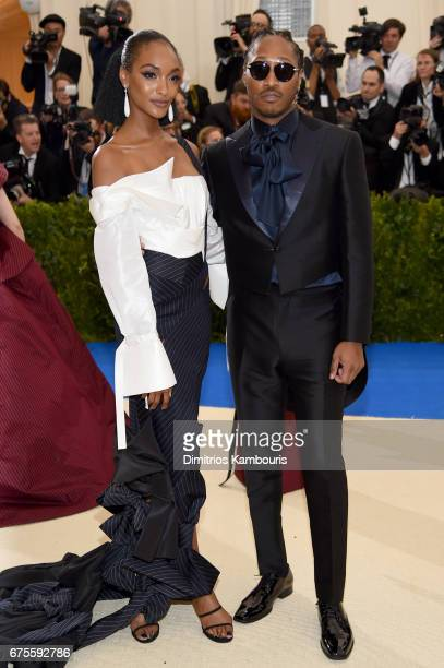 Jourdan Dunn and Future attend the 'Rei Kawakubo/Comme des Garcons Art Of The InBetween' Costume Institute Gala at Metropolitan Museum of Art on May...