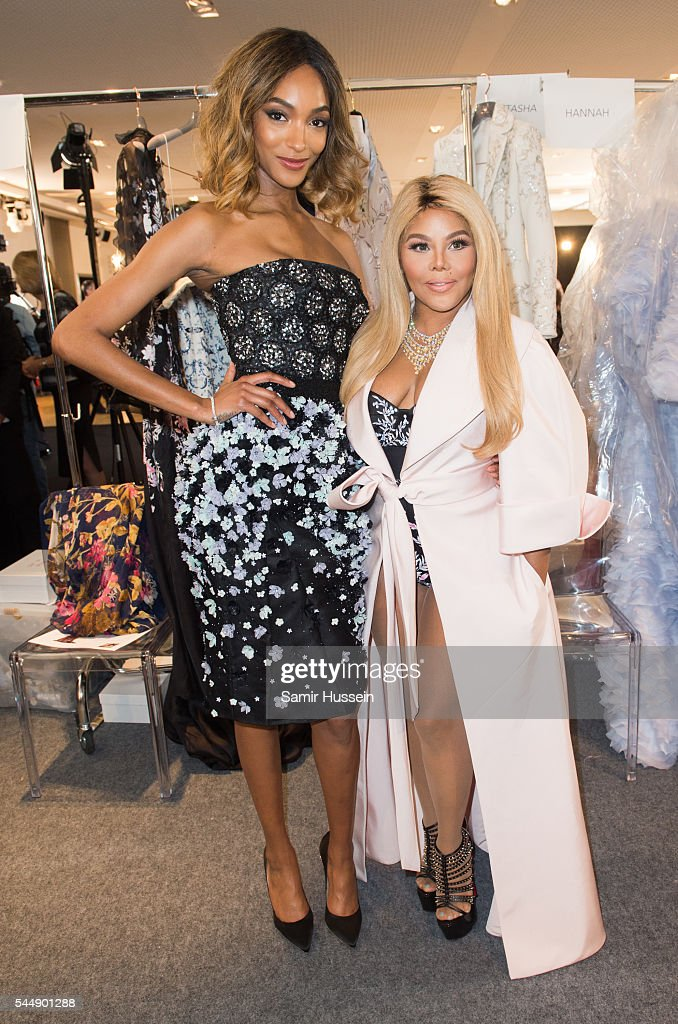 Jourdan Dunn and Lil' Kim attend the Ralph & Russo Haute Couture Fall/Winter 2016-2017 show as part of Paris Fashion Week on July 4, 2016 in Paris, France.