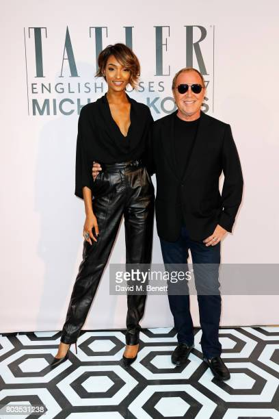 Jourdan Dunn and Michael Kors attend Tatler's English Roses 2017 in association with Michael Kors at the Saatchi Gallery on June 29 2017 in London...