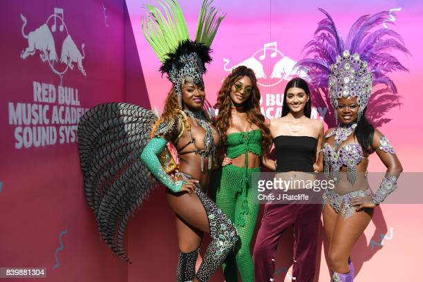 Jourdan Dunn and Neelam Gill attend 'Red Bull Music Academy Soundsystem' at Notting Hill Carnival 2017 on August 27 2017 in London England