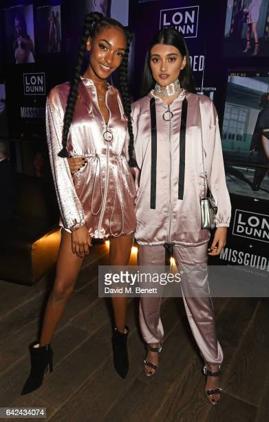 Jourdan Dunn and Neelam Gill attend the Lon Dunn Missguided launch event hosted by Jourdan Dunn at The London EDITION on February 17 2017 in London...