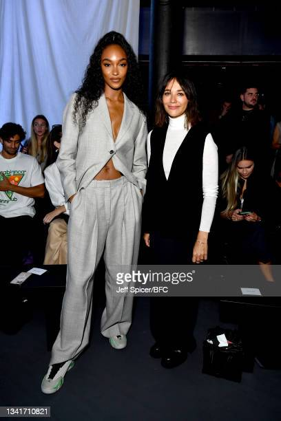 Jourdan Dunn and Rashida Jones attend the COS show during London Fashion Week September 2021 on September 21, 2021 in London, England.