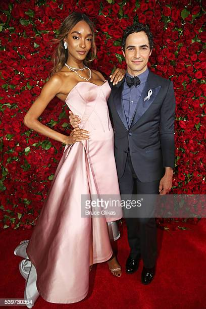 Jourdan Dunn and Zac Posen attend 70th Annual Tony Awards Arrivals at Beacon Theatre on June 12 2016 in New York City