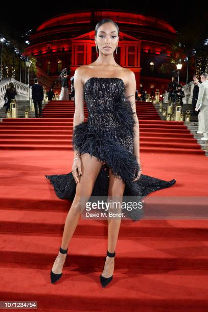Jourdan Dunn arrives at The Fashion Awards 2018 in partnership with Swarovski at the Royal Albert Hall on December 10, 2018 in London, England.
