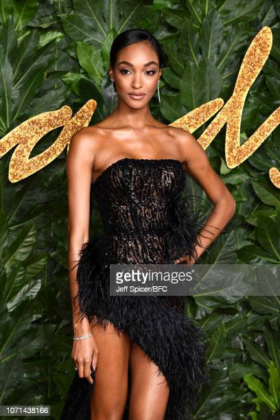 Jourdan Dunn arrives at The Fashion Awards 2018 In Partnership With Swarovski at Royal Albert Hall on December 10 2018 in London England