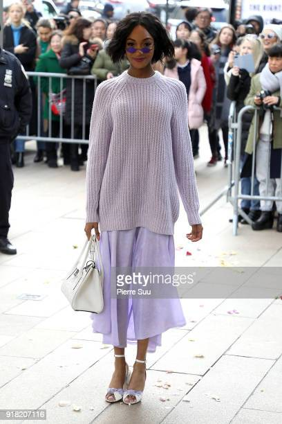 Jourdan Dunn arrives at the Michael Kors Show during the New Yorl Fashion Week 2018 on February 14 2018 in New York City