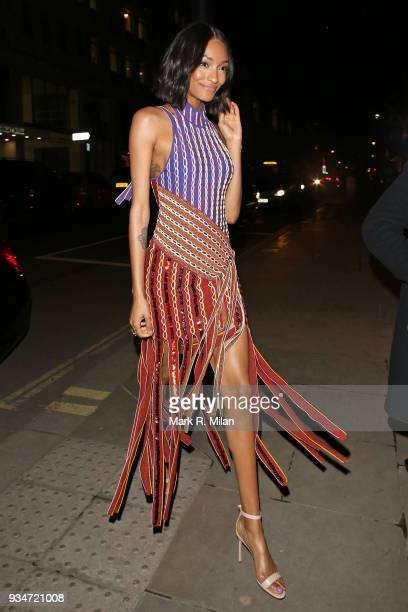 Jourdan Dunn attending the Atelier Swarovski event on March 19 2018 in London England