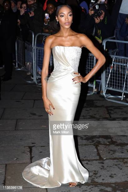 Jourdan Dunn attending the National Portrait Gallery gala on March 12, 2019 in London, England.