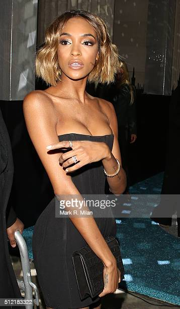 Jourdan Dunn attending the The Brit Awards Warner Music Group After Party on February 24 2016 in London England