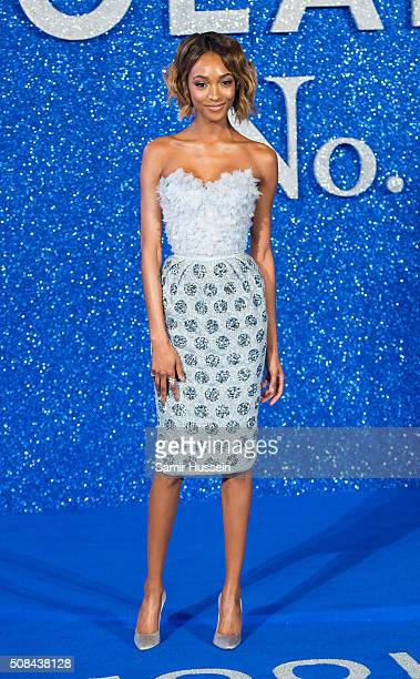 Jourdan Dunn attends a London Fan Screening of the Paramount Pictures film 'Zoolander No 2' at Empire Leicester Square on February 4 2016 in London...