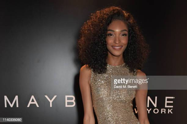 Jourdan Dunn attends a party hosted by Jourdan Dunn to celebrate Maybelline being named the NO.1 Mascara brand in the UK on April 30, 2019 in London,...
