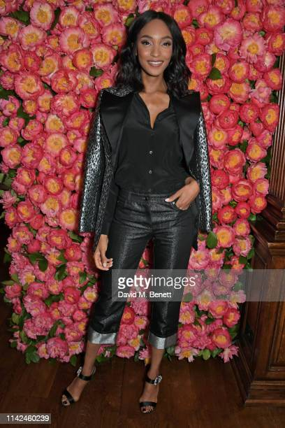 Jourdan Dunn attends a private dinner hosted by Michael Kors to celebrate the new Collection Bond St Flagship Townhouse opening on May 9 2019 in...