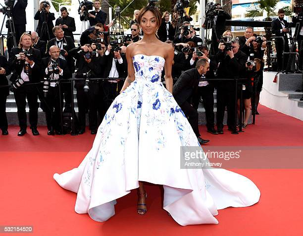 Jourdan Dunn attends a screening of 'The Unknown Girl ' at the annual 69th Cannes Film Festival at Palais des Festivals on May 18 2016 in Cannes...