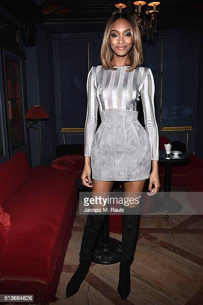 Jourdan Dunn attends Balmain Aftershow Party as part of Paris Fashion Week Womenswear Automn/Winter 2016 at Restaurant Laperouse on March 3 2016 in...