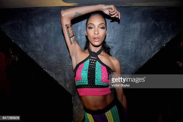 Jourdan Dunn attends Balmain aftershow party as part of Paris Fashion Week Womenswear Fall/Winter 2017/2018 at Manko Paris on March 2 2017 in Paris...