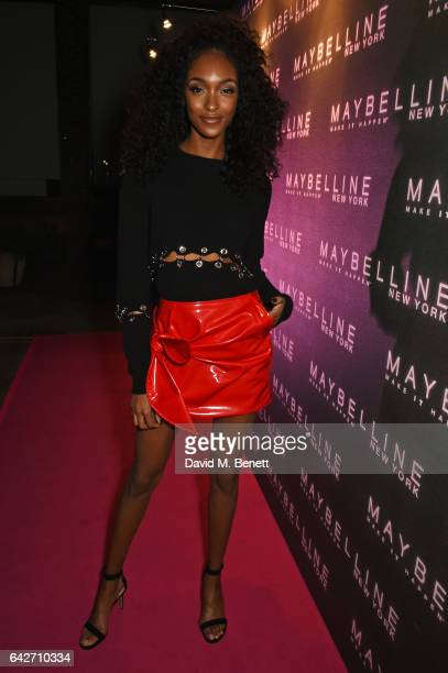 Jourdan Dunn attends Maybelline's Bring On The Night London Fashion Week party at The Scotch of St James on February 18 2017 in London England