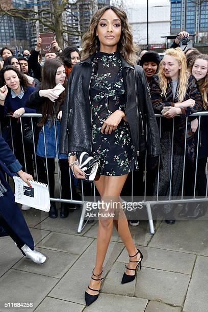 Jourdan Dunn attends the A/W 16 Topshop Unique Catwalk Show at the Tate Britain on February 21 2016 in London England