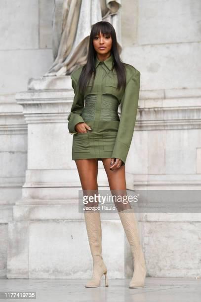 Jourdan Dunn attends the Balmain Womenswear Spring/Summer 2020 show as part of Paris Fashion Week on September 27 2019 in Paris France