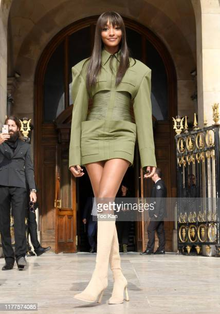 Jourdan Dunn attends the Balmain Womenswear Spring/Summer 2020 show as part of Paris Fashion Week on September 27, 2019 in Paris, France.