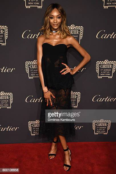 Jourdan Dunn attends the Cartier Fifth Avenue Grand Reopening Event at the Cartier Mansion on September 7 2016 in New York City
