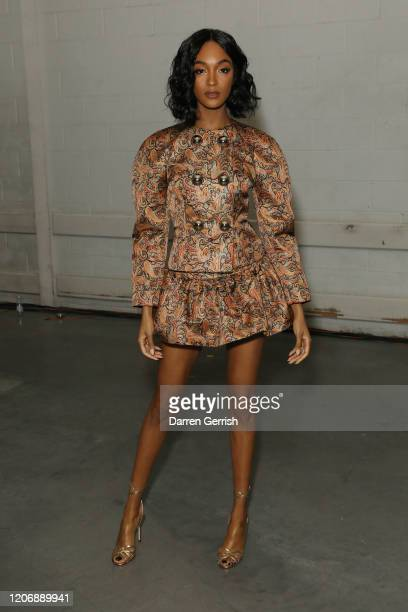 Jourdan Dunn attends the Christopher Kane show during London Fashion Week February 2020 on February 17, 2020 in London, England.