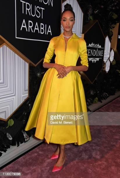 Jourdan Dunn attends the Fashion Trust Arabia Prize awards ceremony on March 28, 2019 in Doha, Qatar.