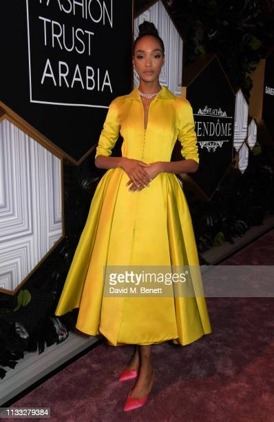 Jourdan Dunn attends the Fashion Trust Arabia Prize awards ceremony on March 28 2019 in Doha Qatar