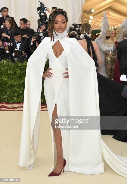 Jourdan Dunn attends the Heavenly Bodies Fashion The Catholic Imagination Costume Institute Gala at The Metropolitan Museum of Art on May 7 2018 in...