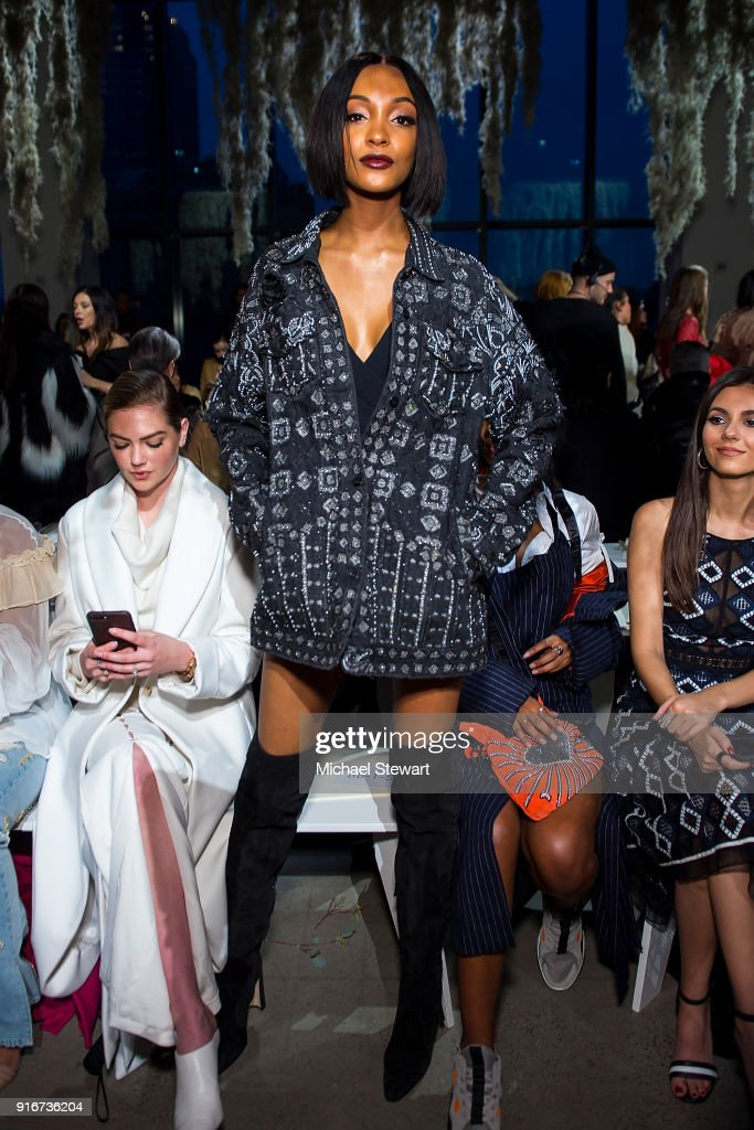 Jourdan Dunn attends the Jonathan Simkhai fashion show during New York Fashion Week at Gallery I at Spring Studios on February 10, 2018 in New York City.