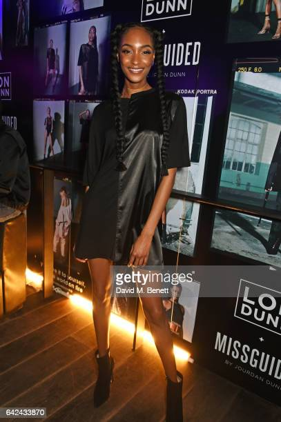 Jourdan Dunn attends the Lon Dunn Missguided launch event hosted by Jourdan Dunn at The London EDITION on February 17 2017 in London England