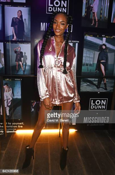 Jourdan Dunn attends the Lon Dunn Missguided launch event which she hosted at The London EDITION on February 17 2017 in London England