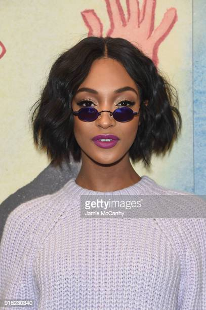 Jourdan Dunn attends the Michael Kors Collection Fall 2018 Runway Show at Vivian Beaumont Theatre at Lincoln Center on February 14 2018 in New York...
