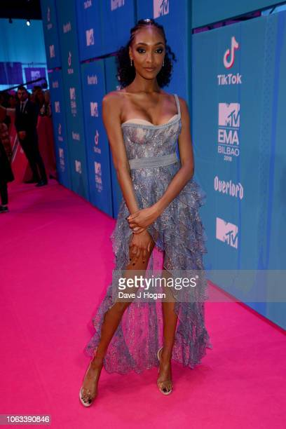Jourdan Dunn attends the MTV EMAs 2018 at the Bilbao Exhibition Centre on November 04 2018 in Bilbao Spain