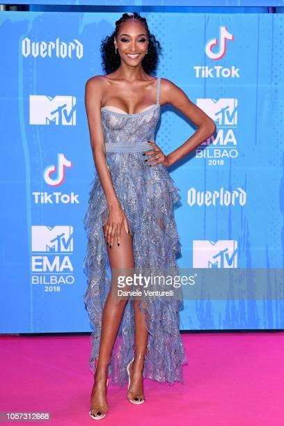 Jourdan Dunn attends the MTV EMAs 2018 on November 4 2018 in Bilbao Spain