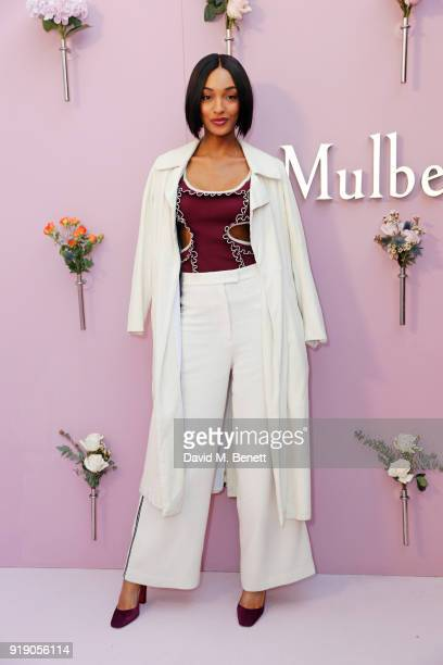 Jourdan Dunn attends the Mulberry 'Beyond Heritage' SS18 Presentation during London Fashion Week February 2018 at Spencer House on February 16 2018...